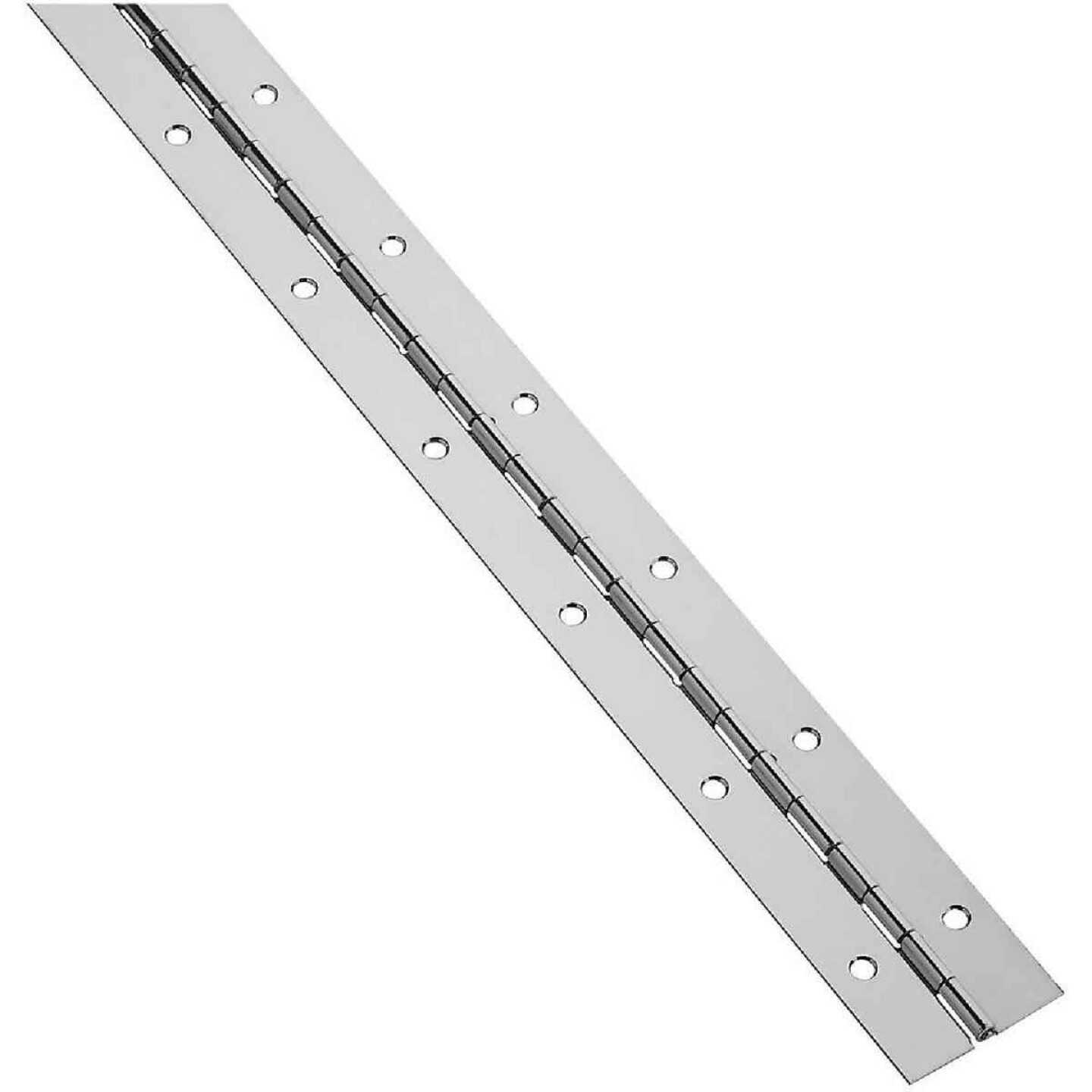 National Steel 1-1/2 In. x 72 In. Nickel Continuous Hinge Image 1
