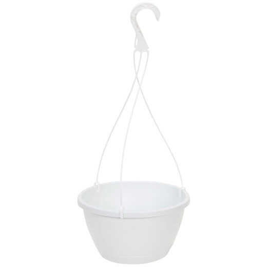Myers 10 In. Polypropylene White Hanging Plant Basket