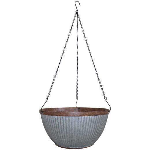 Southern Patio Westlake 12 In. Galvanized Resin Hanging Basket