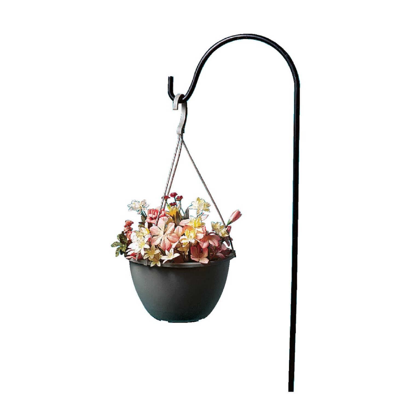 Best Garden 64 In. Black Wrought Iron Shepherd Hook Image 3